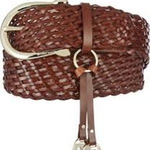 Michael Kors Braided Leather Weave Belt